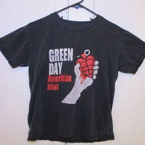 Tops - Green Day American Idiot Super Worn T Shirt holes